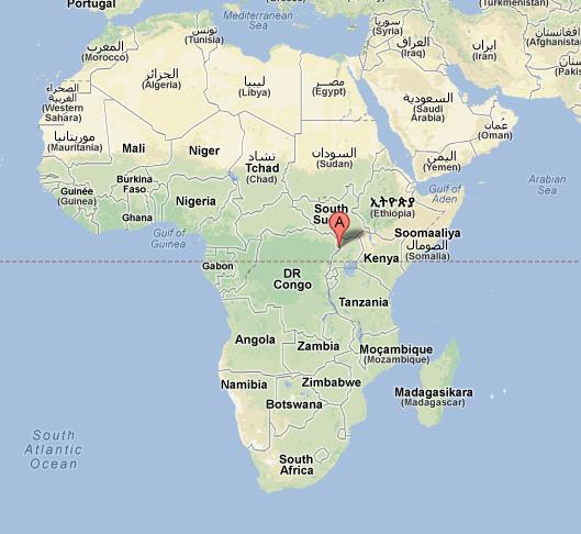 Afrika Karte-Rethy